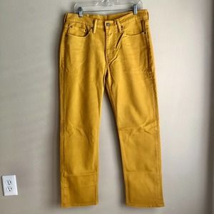 Levi's Men's 514 Gold Yellow Jeans Size 33x30